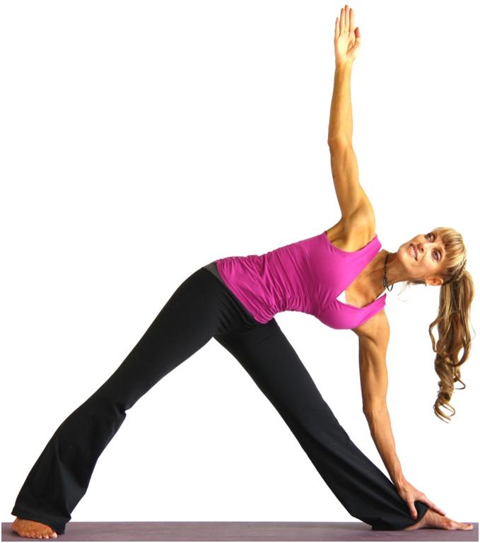 yoga trikonasana for hair