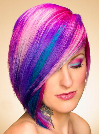 Colored Mid-Hair Style
