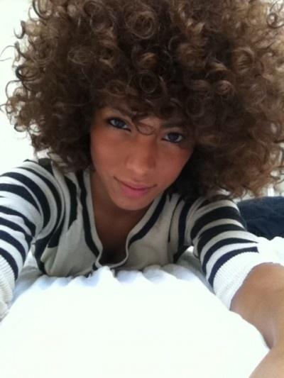 cute natural afro like curls