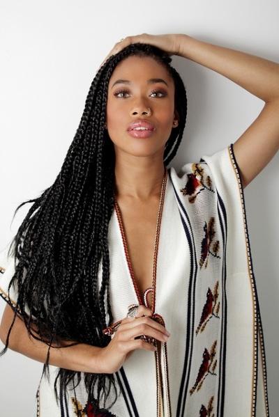 natural long braids